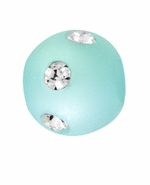Beadles Round 8mm Light Blue Frosted Acrylic Swarovski Crystal Bead
