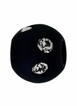 Beadles Round 8mm Navy Blue Frosted Acrylic Swarovski Crystal Bead