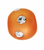 Beadles Round 8mm Orange Frosted Acrylic Swarovski Crystal Bead