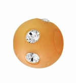 Beadles Round 8mm Peach Frosted Acrylic Swarovski Crystal Bead