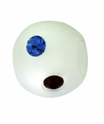 Beadles Round 8mm Red White Blue Frosted Swarovski Crystal Bead