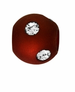 Beadles Round 8mm Rust Frosted Acrylic Swarovski Crystal Bead