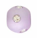 Beadles Round 8mm Violet Frosted Acrylic Swarovski Crystal Bead