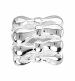 Beadles Silver Decorative Spacer Bead