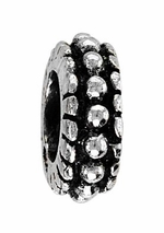 Beadles Silver Dotted Spacer Bead