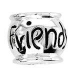 Beadles Silver Friends Inspirational Bead