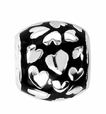 Beadles Silver Hearts Spacer Bead
