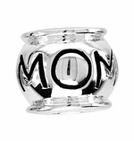 Beadles Silver Horizontal Mom Bead
