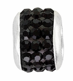 Beadles Silver January Birthstone Wide Spacer Bead