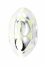 Beadles Silver Light Yellow Hearts Spacer Bead