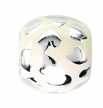 Beadles Silver Light Yellow Spacer Bead