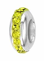 Beadles Silver Lime Yellow Single Spacer Bead