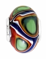 Beadles Silver Multicolor Glass Bead
