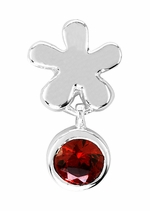 Beadles Silver Red CZ Dangle Bead