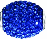 Beadles Swarovski Oval September Birthstone Bead