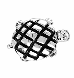 Beadles Silver Turtle Bead
