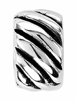 Beadles Silver Twisted Spacer Bead