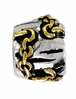 Beadles Silver Two Tone Designer Spacer Bead