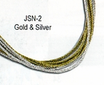 Beadles Silver Two Tone Japanese Silk Thread Necklaces