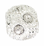 Beadles Silver White CZ Crystal Spacer Bead