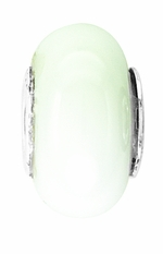 Beadles Silver White Glass Bead