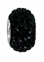 Beadles Silver Xillion Cut Swarovski Jet Black Crystal Bead