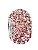 Beadles Silver Xillion Cut Swarovski Light Rose Crystal Bead