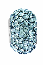 Beadles Silver Xillion Cut Swarovski Light Sapphire Crystal Bead