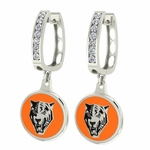 Buffalo State Bengals Enamel Large CZ Hoop Earrings