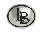 California State Long Beach Silver Round Laser Bead