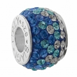 Carlo Biagi Blue Ice Flower Swarovski Crystal Bead
