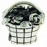 Carlo Biagi Silver Basket with Flowers Bead