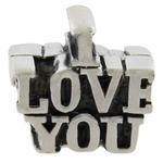 Carlo Biagi Silver I LOVE YOU Bead