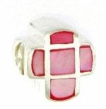 Carlo Biagi Silver Pink Mother of Pearl Bead