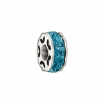 Chamilia Blue Crystal Spacer Bead