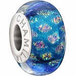 Chamilia Bright Blue Opulence Collection Glass Bead
