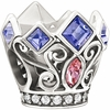 Chamilia Disney Pink and Purple Royal Crown Swarovski Bead