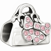 Chamilia Disney Pink Minnie Loves Shopping Swarovski Bead
