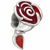 Chamilia Disney Red Enanamel Belle's Enchanted Rose Bead