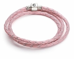 Chamilia Pink Leather Wrap Bracelet