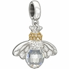 Chamilia Silver Crystal Good to Bee Queen Bead