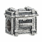 Chamilia Silver Movable 3-D Steamer Trunk Bead