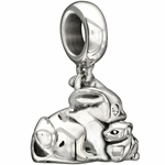 Chamilia Silver Some Bunny Loves Me Dangle Bead