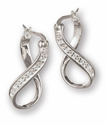 Chamilia Sterling Silver CZ Infinity Earrings