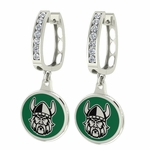Cleveland State Vikings Enamel Large CZ Hoop Earrings