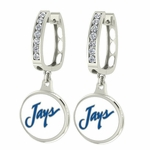 Creighton Jays Enamel Large CZ Hoop Earrings