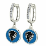 DePaul Blue Demons Enamel Large CZ Hoop Earrings