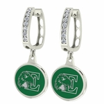 Eastern Michigan Eagles Enamel Large CZ Hoop Earrings