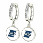 Emory Eagles Enamel Large CZ Hoop Earrings