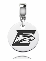 Emory Eagles Silver Round Dangle Bead